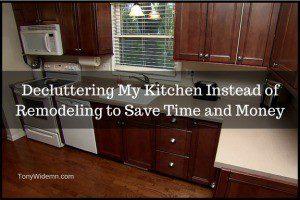 Decluttering My Kitchen
