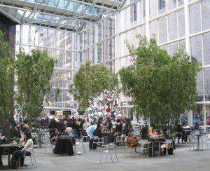 the IBM plaza