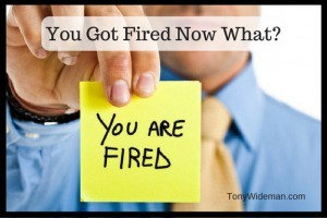You got fired Now What