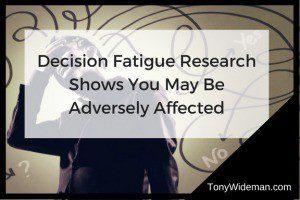 decision fatigue research