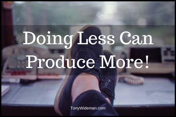 This Year Doing Less Will Produce More Progress In Your Life