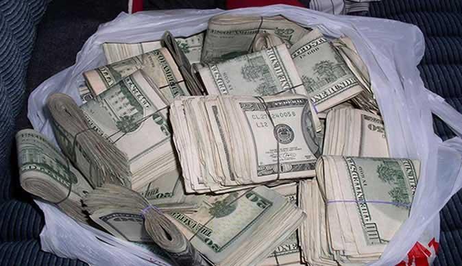 money in a bag