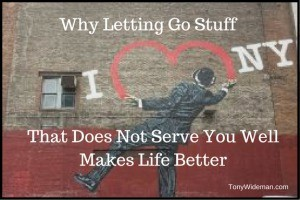 Letting go of stuff