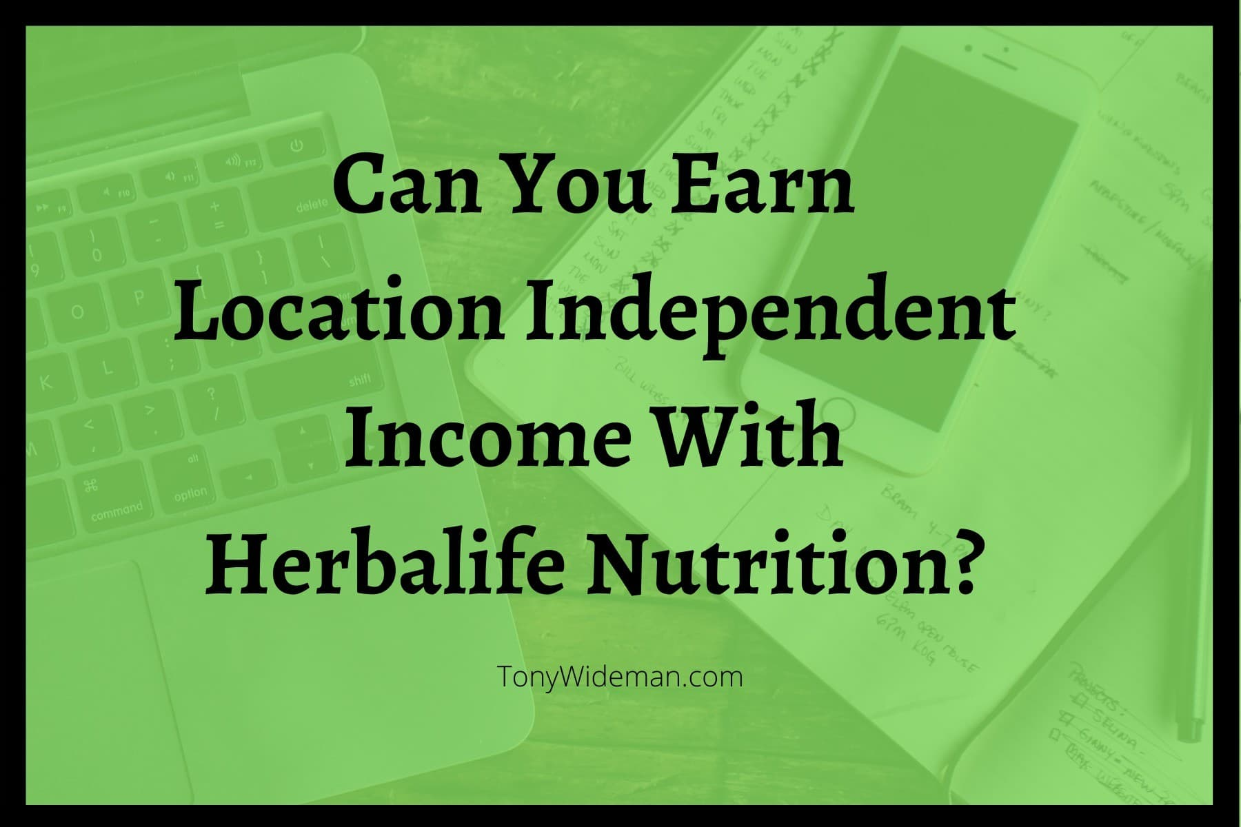 Earn Location Independent Income Herbalife Nutrition