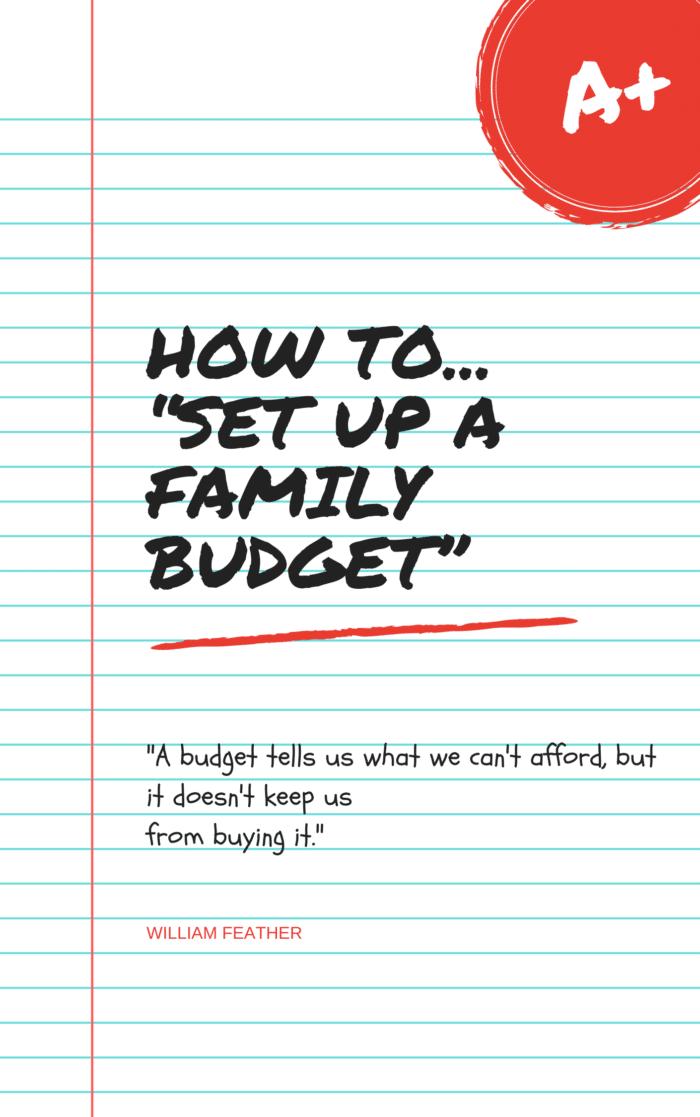 Set up a Family Budget Cover